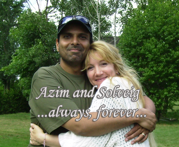 Azim and Solveig Keshavjee. One of many beautiful moments captured together!